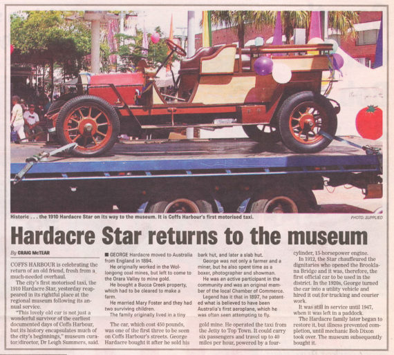 1910 Hardacre Star taxi returns to the museum