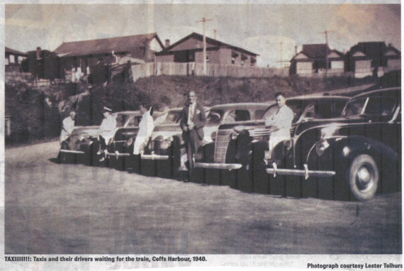 1940: Taxis Waiting for the Train