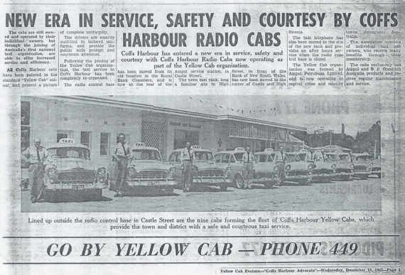 1962: Yellow Cab Feature